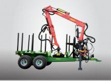 Remolque de madera con unidad de carga T644 / 1