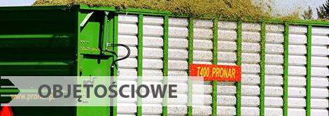 Przyczepy rolnicze objętościowe Pronar