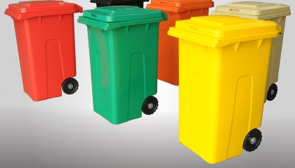 Household waste container 240l