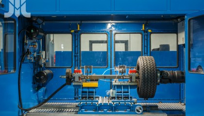 Tests of axles in operating conditions
