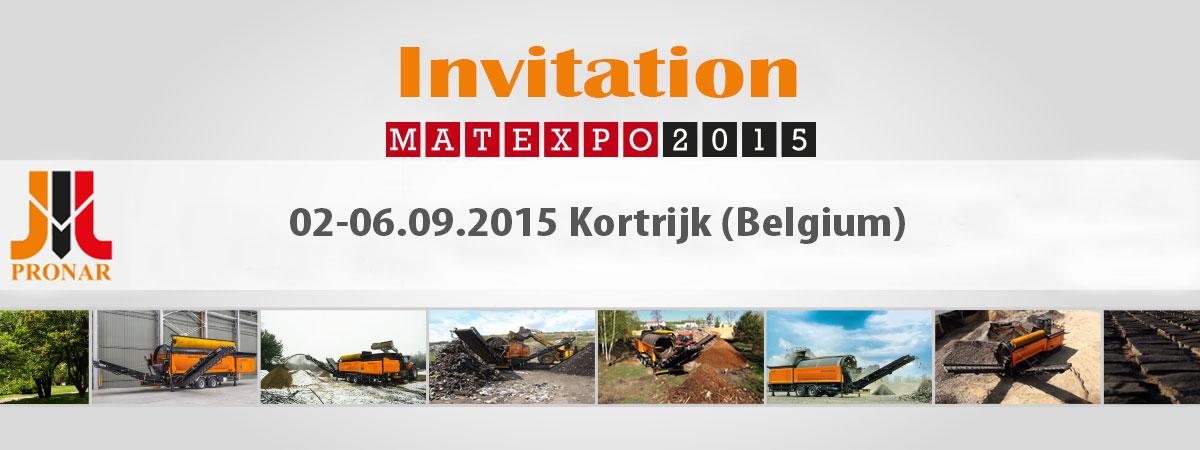 Invitation: MATEXEXPO, Kortrijk (Belgium) – 02-06.09.2015