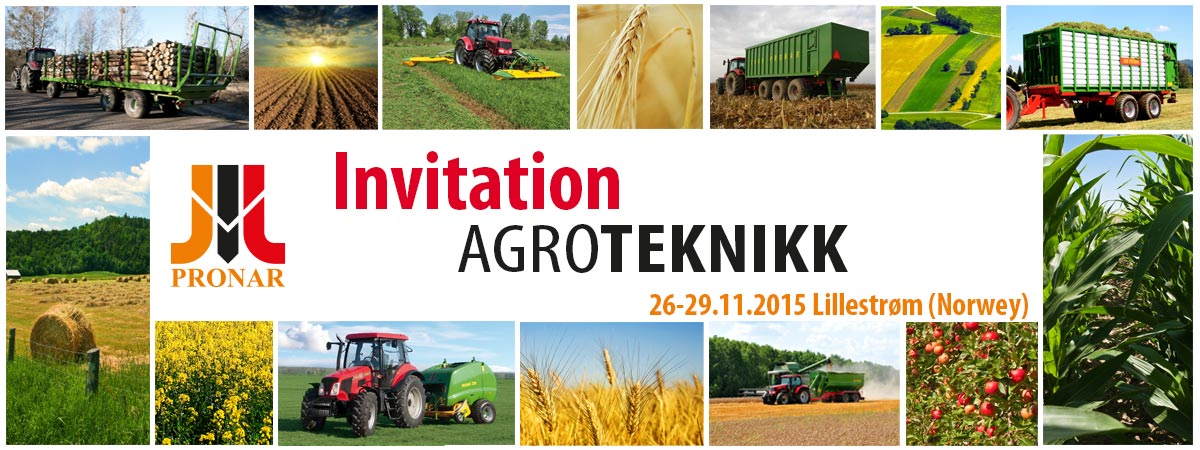 Invitation: Agrotekknik – Lillestrøm (Norway) – 26-29.11.2015
