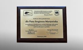 Podziękowanie Starosty Powiatu Siemiatyckiego