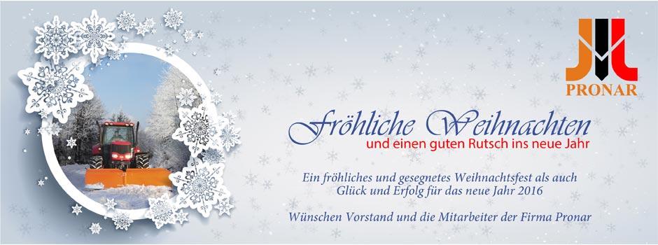Frohe Weihnachten Und Guten Rutsch In Neues Jahr.Frohe Weihnachten Und Einen Guten Rutsch Ins Neue Jahr Pronar Sp