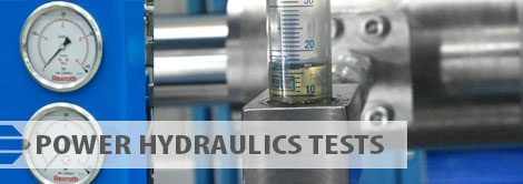 Power hydraulics tests