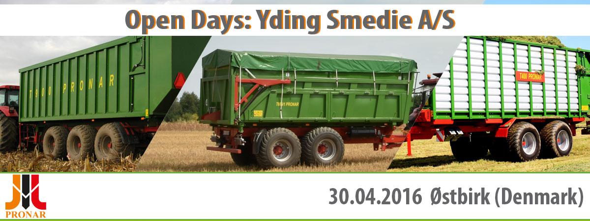Invitation: Open Days- Yding Smedie A/S, 30.04.2016 (Denmark)