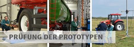 Angebot der Prüfungen - Prüfung der Prototypen