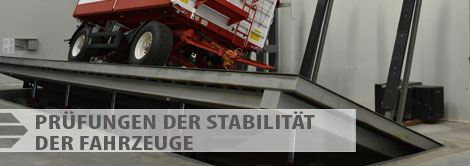 Angebot der Prüfungen - Prüfungen der Stabilität der Fahrzeuge