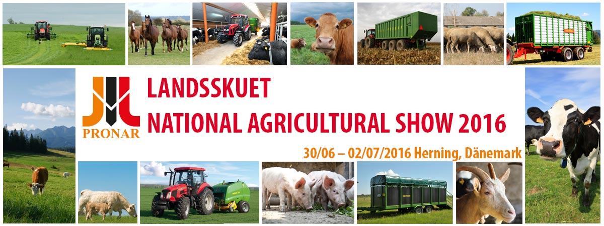 Einladung: LANDSSKUET – NATIONAL AGRICULTURAL SHOW 2016, 30/06 – 02/07/2016, Herning (Dänemark)