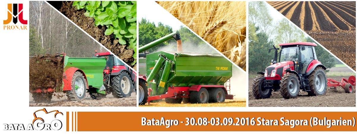 Einladung: BataAgro, 30.08-03.09.2016, Stara Sagora (Bulgarien)