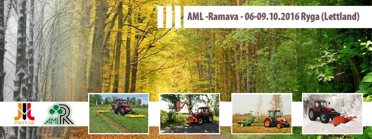 Einladung:  AML Ramava, 06-09.10.2016, Ryga (Lettland)