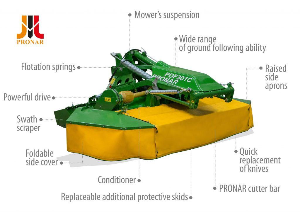 Disc mower PRONAR PDF301C