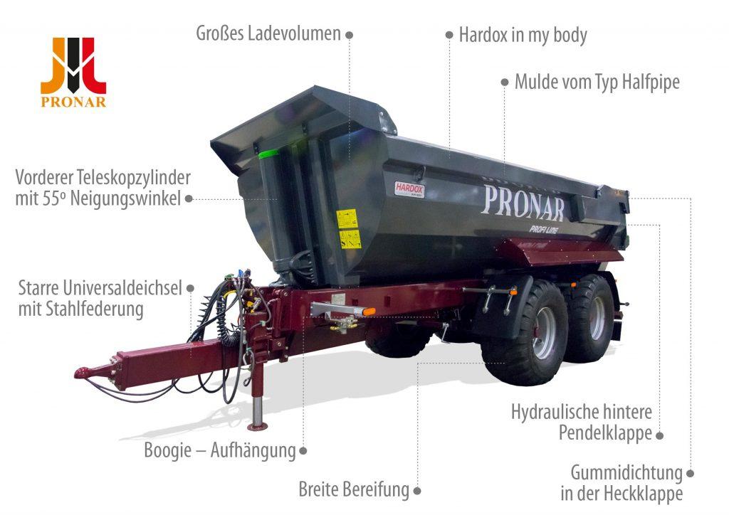 Der Bauanhänger PRONAR T701HP
