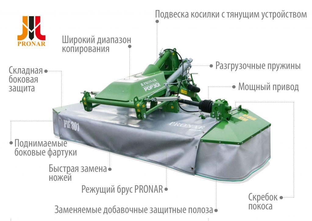 Косилка PRONAR PDF301