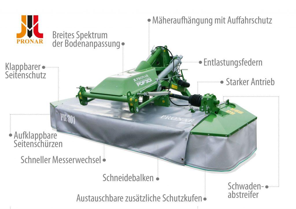 Scheibenmähwerken - PDF301 und PDF301C