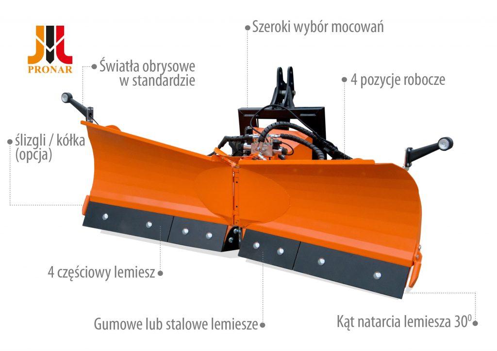 Pług odśnieżny PRONAR PUV1350/1500/1800/2000M