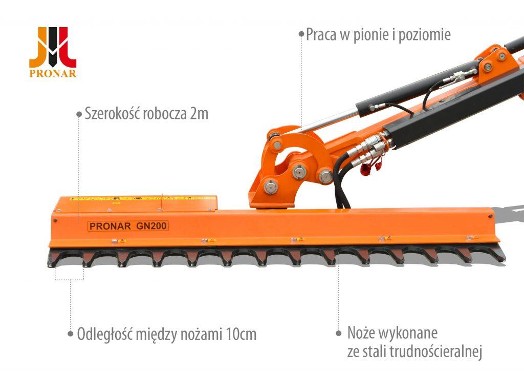 Głowica nożycowa PRONAR GN200