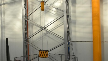 Tests of falling object protective structures (FOPS)