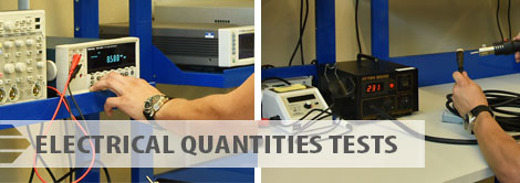 Electrical quantities tests