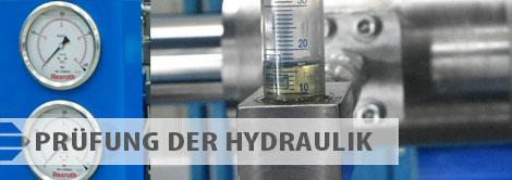 Angebot der Prüfungen - Prüfung der Hydraulik
