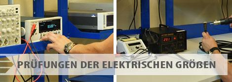 Angebot der Prüfungen - Prüfungen der elektrischen Größen