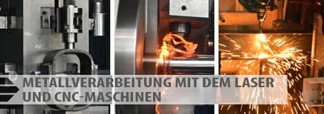 CBR Leistungen - Metallverarbeitung mit dem Laser und CNC-Maschinen
