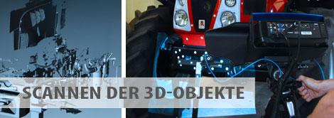 CBR Leistungen - Scannen der 3D-Objekte