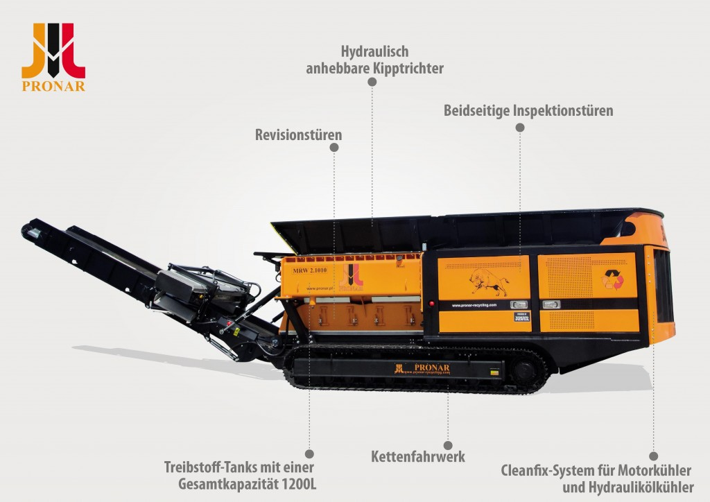 Mobile Vorzerkleinerer Pronar MRW 2.85 und Pronar MRW 2.1010