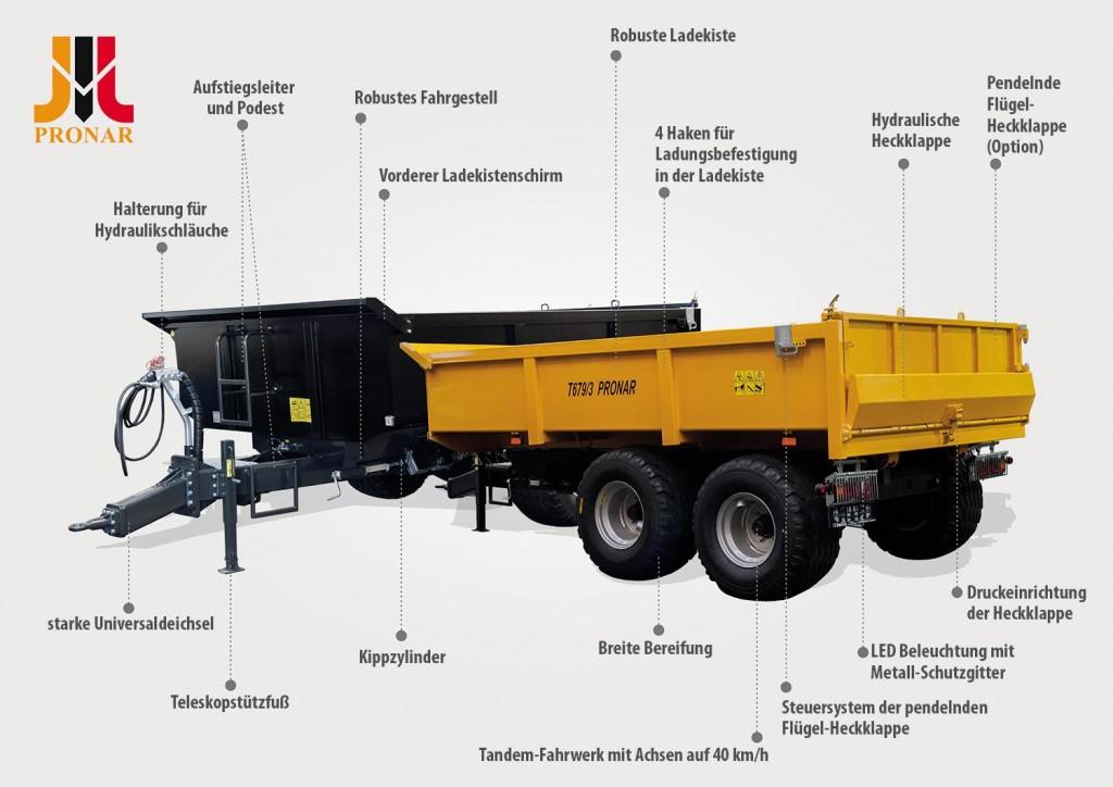 Neue Bauanhänger PRONAR T679/3 und PRONAR T679/4