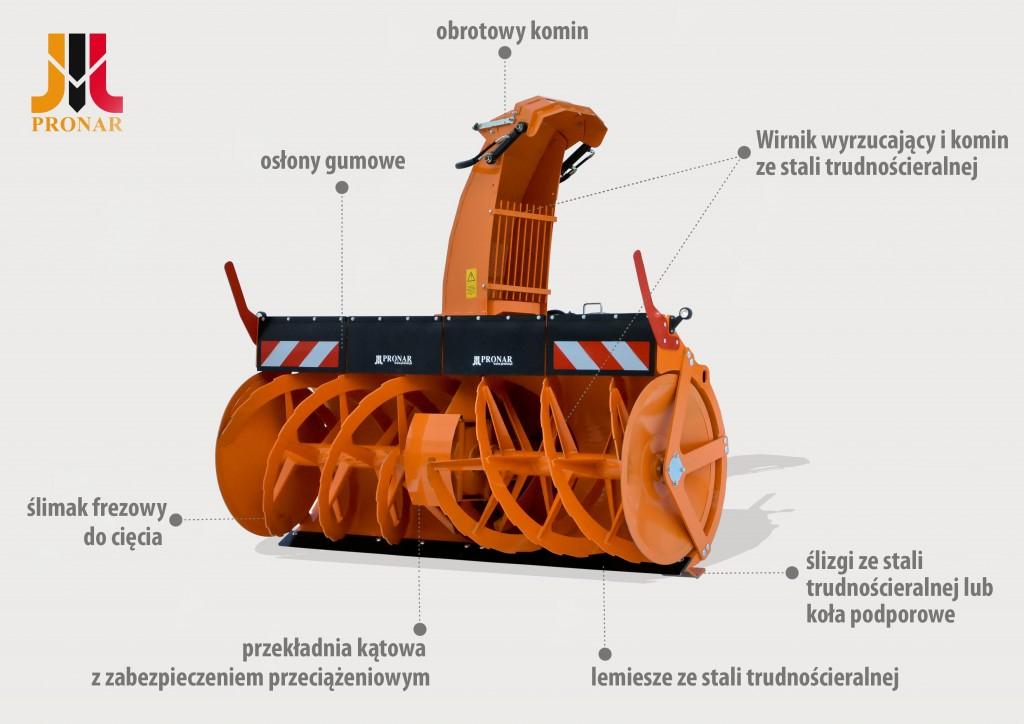 Odśnieżarka frezowo wirnikowa PRONAR OFW2.6