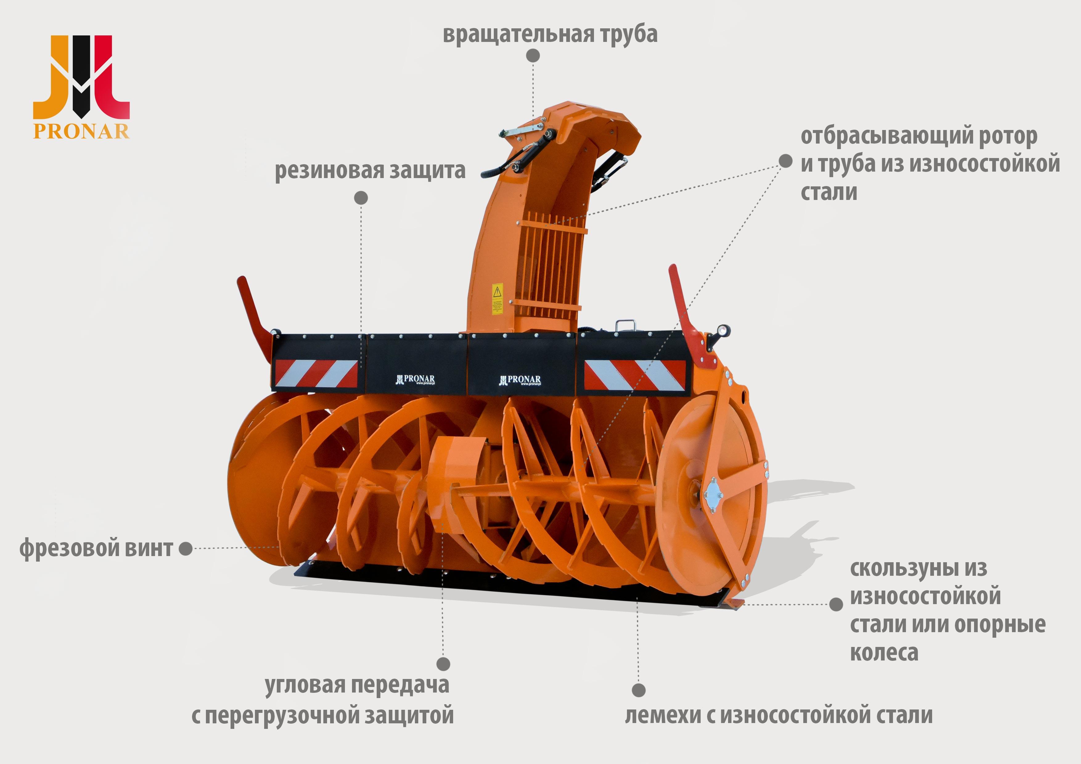 Новый фрезо-роторный снегоочиститель Pronar OFW 2.6