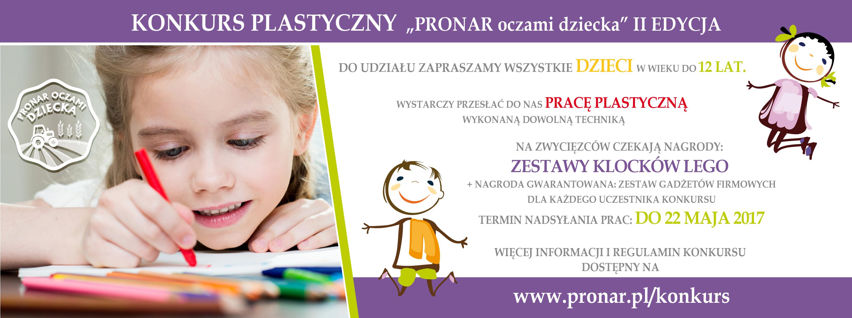 """Konkurs """"Pronar oczami dziecka"""" II edycja"""