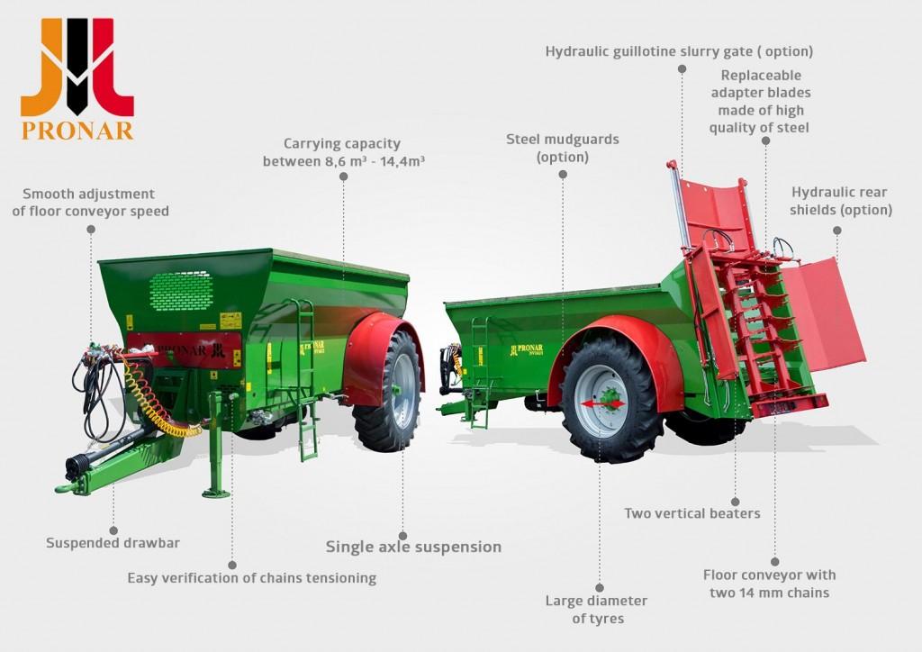 manure spreader Pronar NV