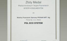 Dyplom Złoty medal 2018