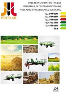 okładka broszura przyczepy T PRONAR RU LT EN