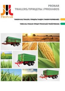 okładka broszura przyczepy tandem PRONAR RU LT EN