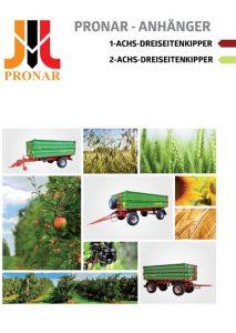 okładka broszura pronar jedno dwuosiowe DE