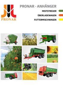 okładka broszura pronar rozrzutniki DE