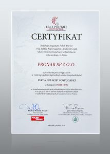 Pronar - Pearls of Polish Economy 2018