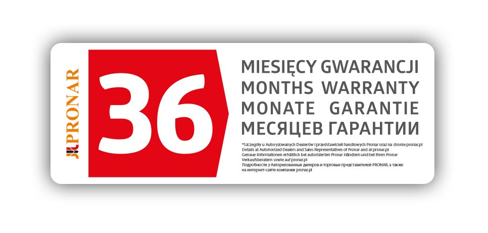36 месяцев гарантии