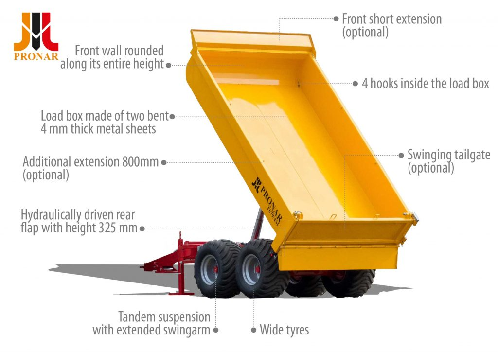 Dump trailer PRONAR T679/4M