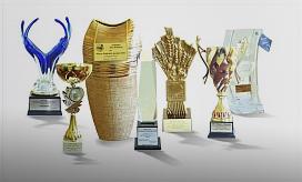 Nagrody otrzymane za zwycięztwo w kategorii Firma w konkursie Podlaska AgroLiga 2010